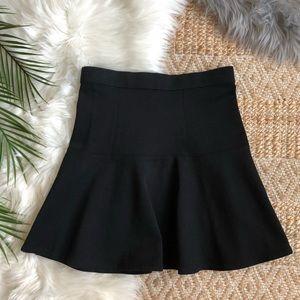 Madewell Black Drop Waist Skater Skirt